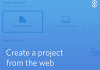 Create a project from the web