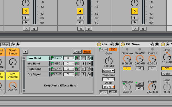 Building Multiband Processing Racks with Ableton Live
