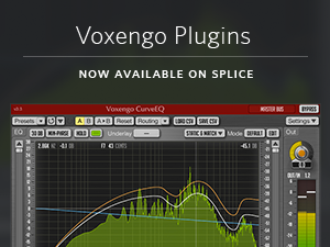 Voxengo Plugins Now Available on Splice - Instantly Download