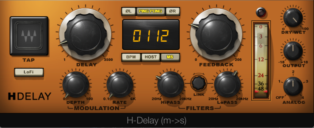 Waves H-Delay Setting 2