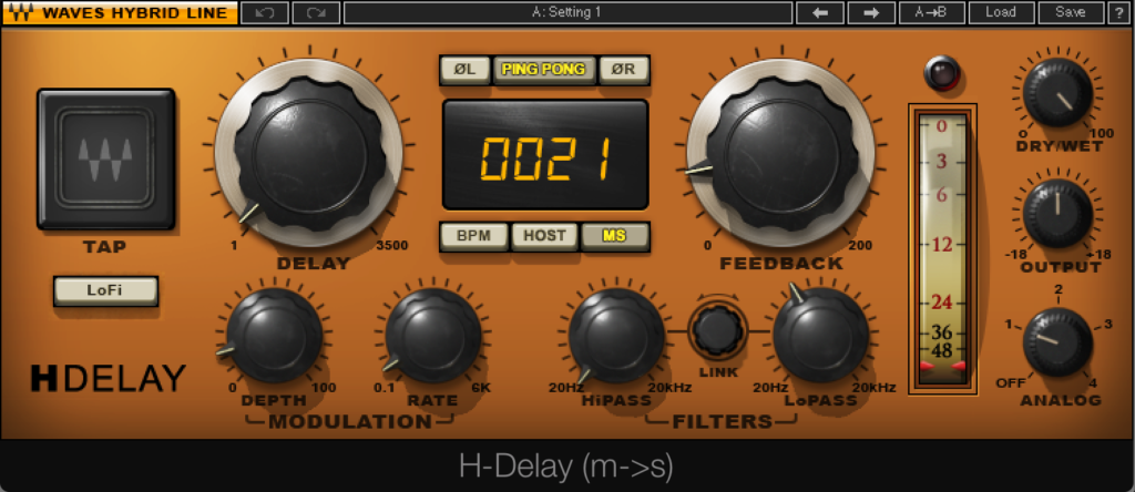 Waves H Delay Setting 3
