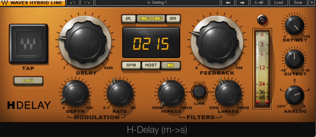 Waves H-Delay Setting 4