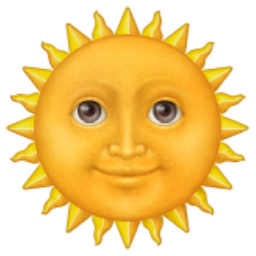 sun face emoji serum