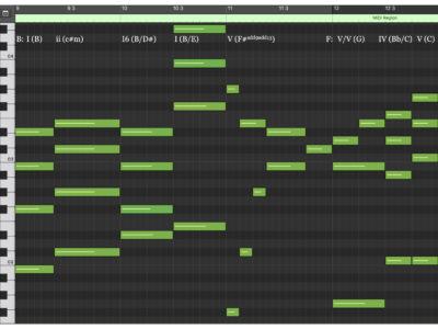 Harmony MIDI Notation (mm. 9 - 12)