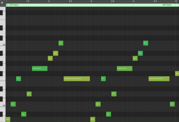 Pocket Camp Melody MIDI Notation (mm. 1 - 4)