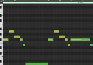 Pocket Camp Melody MIDI Notation (mm. 5 - 8)