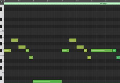 Melody MIDI Notation (mm. 5 - 8)