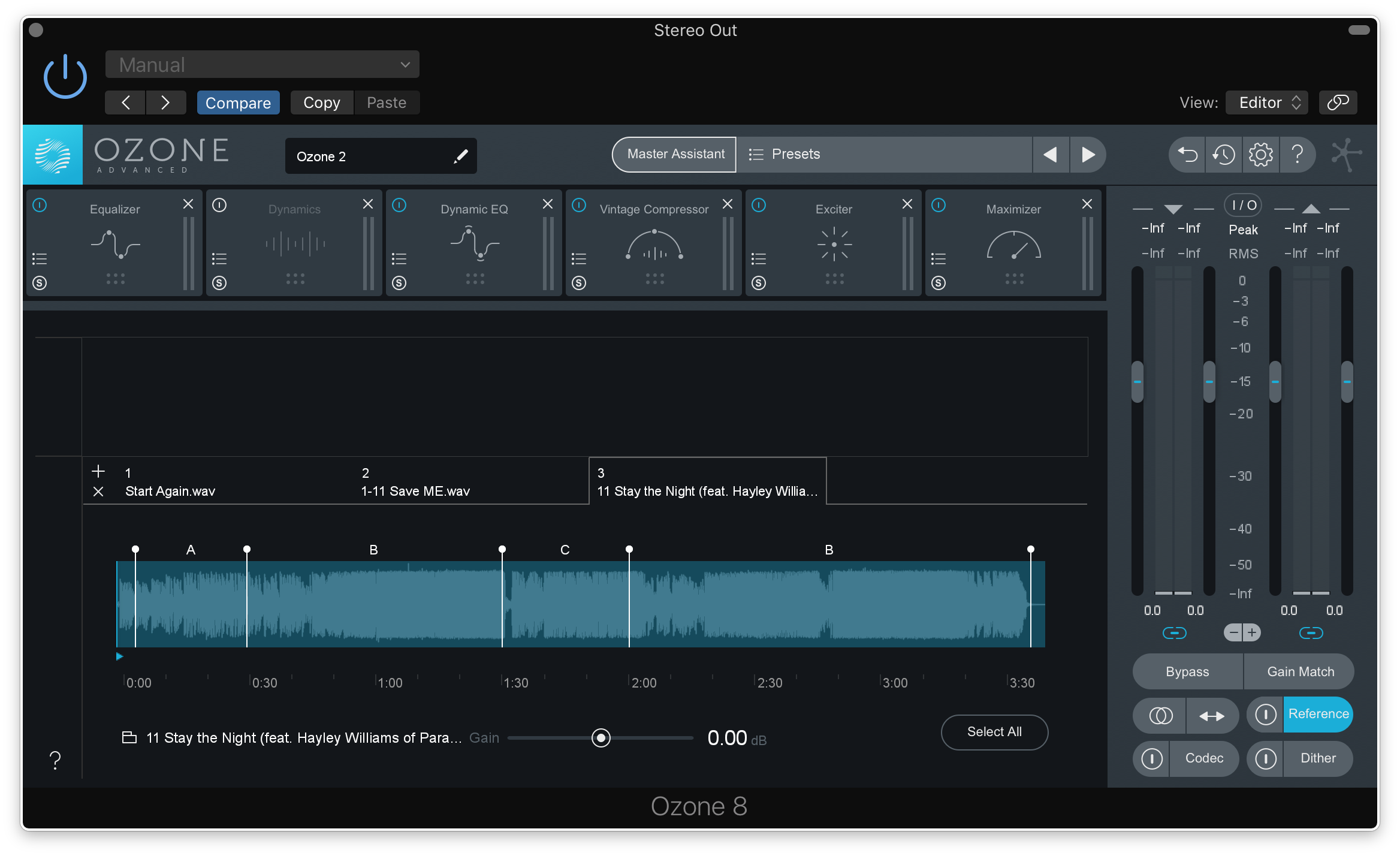 How to master with Ozone 8 Advanced and reference tracks