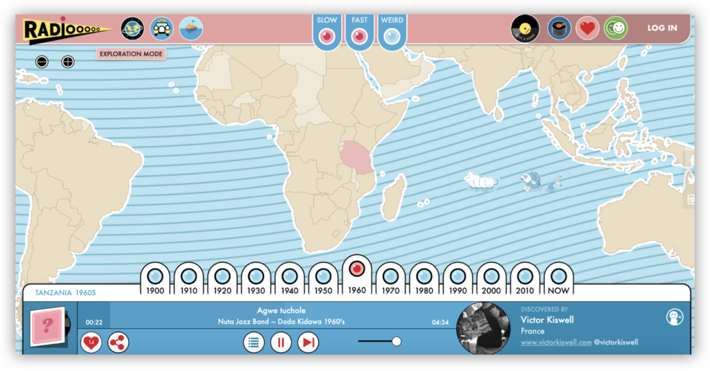 A world map for music discovery from Radiooooo.com