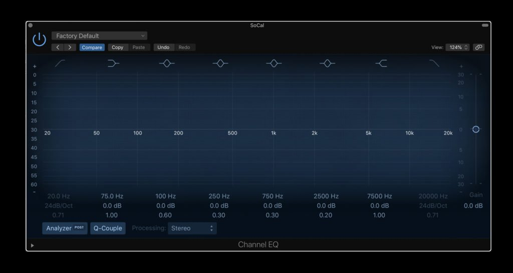 The Channel EQ for mixing in Logic Pro X